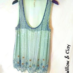 New: Willow & Clay Mint Gatsby Tank Top